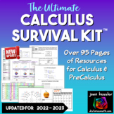 Calculus Survival Kit   over 95 pages of references for Calculus and PreCalc