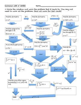 Calculus e^x Maze
