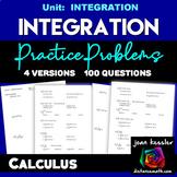 Calculus Integration Practice 100 questions