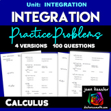 Calculus Integration Practice  Indefinite Integration 100