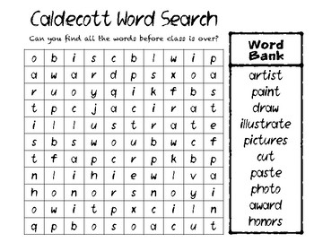 Caldecott Award Word Search