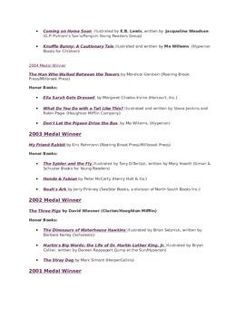 Caldecott Medal Winners and Honor Books