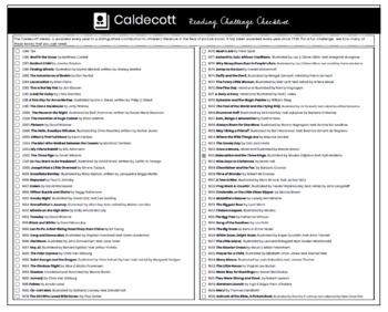 Caldecott Reading Challenge Checklist