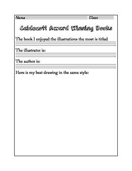 Caldecott Worksheet