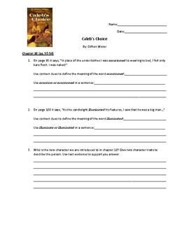 Caleb's Choice Ch.10 Response Questions