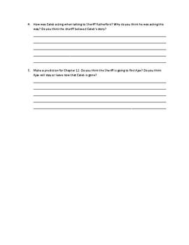 Caleb's Choice Ch.11 Response Questions