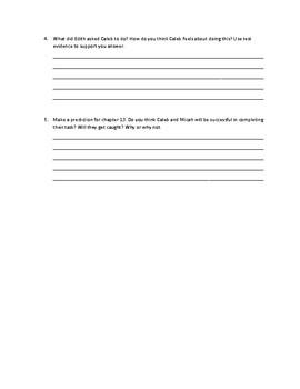 Caleb's Choice Ch.12 Response Questions
