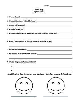 Caleb's Story Reading Activities