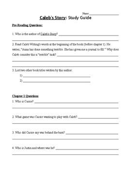 Caleb's Story - Book Study Guide