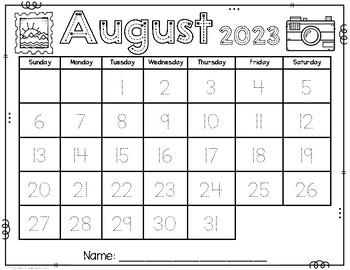 Calendar Trace 2018-2019
