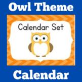 Owl Theme Classroom Calendar