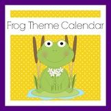 Frog Themed Classroom | Calendar