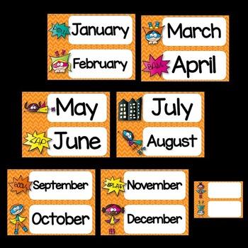 Superhero Theme Calendar ❤ Superhero Calendar