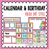 Calendar Labels and Birthday Display - Polka Dot Calendar Numbers