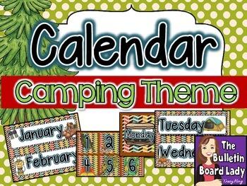 Calendar -Camping Theme