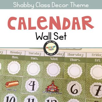 Shabby Class Calendar Set