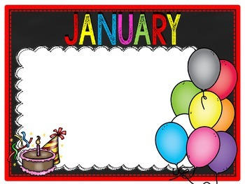 Calendar Labels and Birthday Board Posters