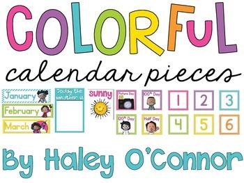Classroom Calendar Pieces
