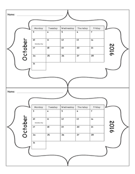Calendar 2016-2017 & 2017-2018