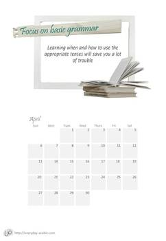 Calendar 2014 - with 12 learning tips