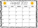 Editable 2016-2017 Calendar