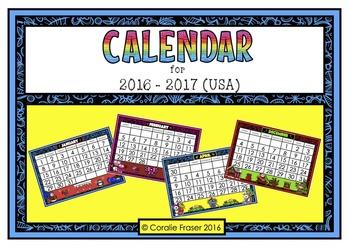 Calendar 2016 - 2017 (USA Edition)