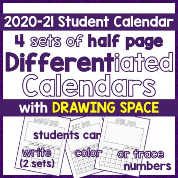 Calendar 2017, Differentiated DIY Picture Calendar- Write, Color or Trace Number