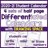 Calendar 2017, Differentiated DIY Picture Calendar- Write,