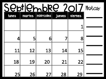 Powerpoint Calendar 2017 2018 In Spanish