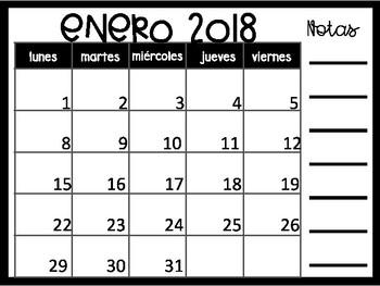 Powerpoint Calendar 2017 2018 In Spanish