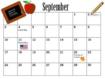 Calendar: 2017-2018 School Year