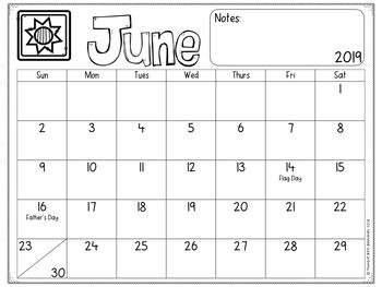 Calendar 2018-2019 School Year