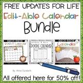 Calendar 2018-2019 Bundle