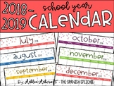 Calendar 2018-2019 School Year - English Version