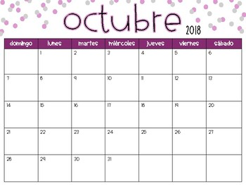 calendar 2018 2019 school year spanish version