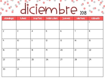 Calendar 2018-2019 School Year - Spanish Version