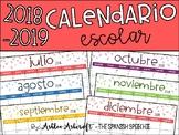 Calendar 2018-2019 School Year - Spanish Version