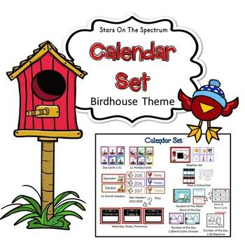 Calendar * Birdhouse Theme Calendar