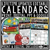 Monthly Editable Calendar 2017-2018 Templates