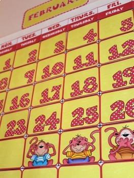 Pink Monkeys Calendar Set