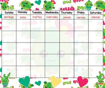Calendar 24x20 Cactus