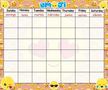 Calendar 24x20 Emojies