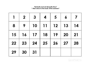 Interactive Calendar To Teach Day and Dates