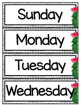 Calendar Accessories - Cactus - Succulent - Classroom Decor