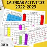 2018-2019 Calendar Activities
