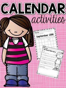 Calendar Activities 2015-16