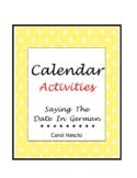 Calendar Activities * Pac For German Class