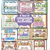 Calendar Activities for Language Bundle! - $ Saving!!!!