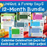 Calendar Activities for the Entire School Year Super Bundle