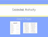 ASL Calendar Activity - Receptive and Expressive